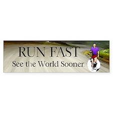 TOP Run Fast Bumper Bumper Sticker