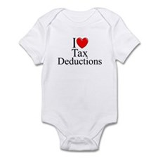 """I Love (Heart) Tax Deductions"" Infant Bodysuit"