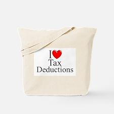 """I Love (Heart) Tax Deductions"" Tote Bag"