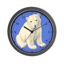Endangered Polar Bear Wall Clock