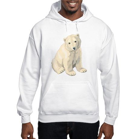 Endangered Polar Bear Hooded Sweatshirt