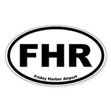 Friday Harbor Airport Oval Decal