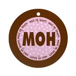 Polka Dot Maid of Honor Ornament (Round)