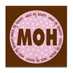 Polka Dot Maid of Honor Tile Coaster