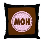 Polka Dot Maid of Honor Throw Pillow