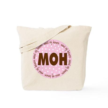 Polka Dot Maid of Honor Tote Bag