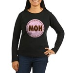 Polka Dot Maid of Honor Women's Long Sleeve Dark T