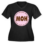 Polka Dot Maid of Honor Women's Plus Size V-Neck D