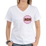 Polka Dot Maid of Honor Women's V-Neck T-Shirt