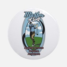 Master of Golf Ornament (Round)