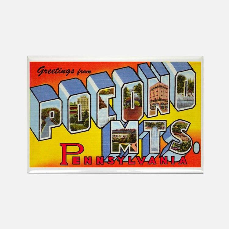 Pocono Mts Pennsylvania Rectangle Magnet (10 pack)