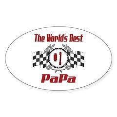 Racing PaPa Oval Sticker (10 pk)