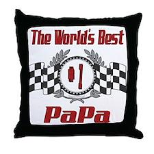 Racing PaPa Throw Pillow
