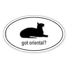 Got Oriental? Oval Decal