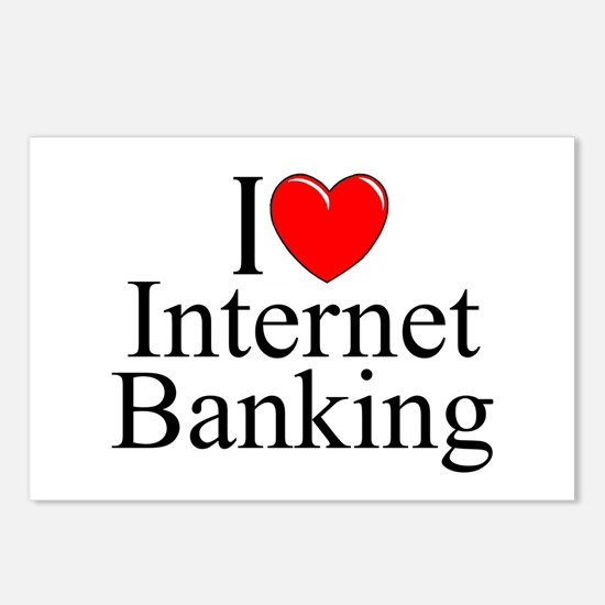 """I Love (Heart) Internet Banking"" Postcards (Packa"