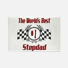 Racing Stepdad Rectangle Magnet