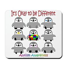 Autism Awareness Penguins Mousepad