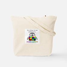 Autism Awareness Penguins Tote Bag