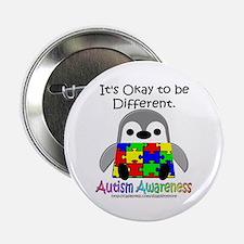 """AA Penguin 2.25"""" Button"""