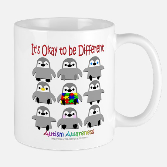Autism Awareness Penguins Mug