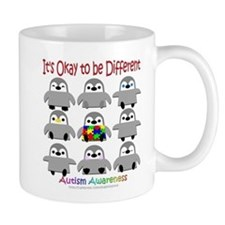 Autism Awareness Penguins Small Mug
