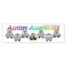 Autism Awareness Penguins Bumper Bumper Sticker