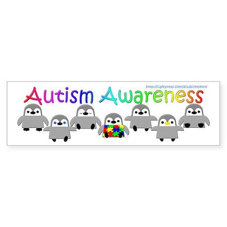 Autism Awareness Penguins Bumper Sticker
