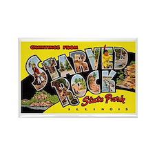Starved Rock Park Illinois Rectangle Magnet