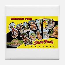 Starved Rock Park Illinois Tile Coaster