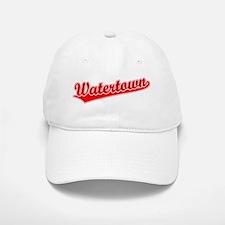 Retro Watertown (Red) Baseball Baseball Cap