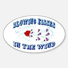 Blowing Kisses Oval Decal
