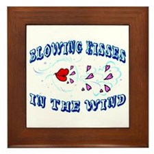 Blowing Kisses Framed Tile