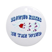 Blowing Kisses Ornament (Round)