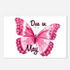 Due May Sparkle Butterfly Postcards (Package of 8)