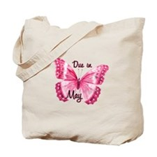 Due May Sparkle Butterfly Tote Bag
