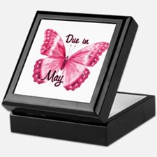 Due May Sparkle Butterfly Keepsake Box