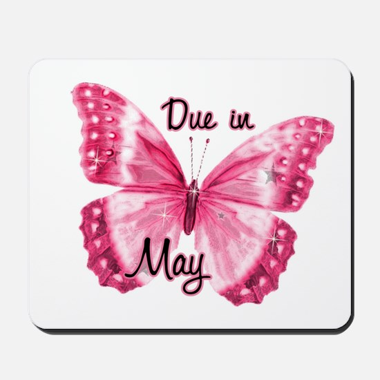 Due May Sparkle Butterfly Mousepad