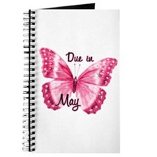 Due May Sparkle Butterfly Journal