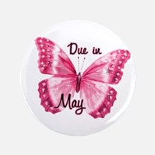 """Due May Sparkle Butterfly 3.5"""" Button (100 pack)"""