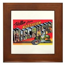 Northern Wisconsin Greetings Framed Tile
