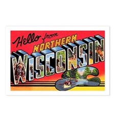 Northern Wisconsin Greetings Postcards (Package of