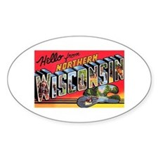 Northern Wisconsin Greetings Oval Decal