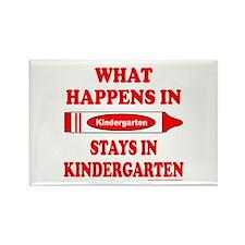 WHAT HAPPENS IN KINDERGARTEN Rectangle Magnet (100