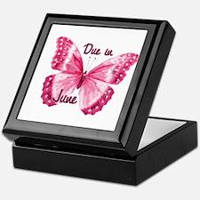 Due June Sparkle Butterfly Keepsake Box