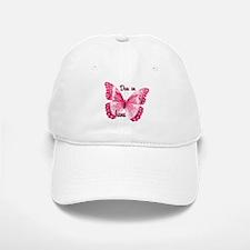 Due June Sparkle Butterfly Baseball Baseball Cap