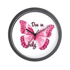 Due July Sparkle Butterfly Wall Clock