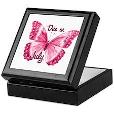 Due July Sparkle Butterfly Keepsake Box