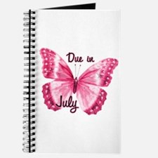 Due July Sparkle Butterfly Journal