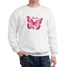 Due July Sparkle Butterfly Sweatshirt