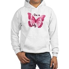 Due July Sparkle Butterfly Hoodie
